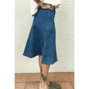 PO-EM Tea Skirt in Indigo